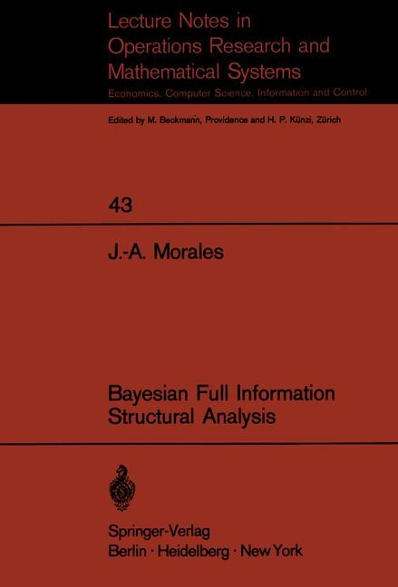Bayesian Full Information Structrual Analysis   Morales, 1971   Buch (Cover)