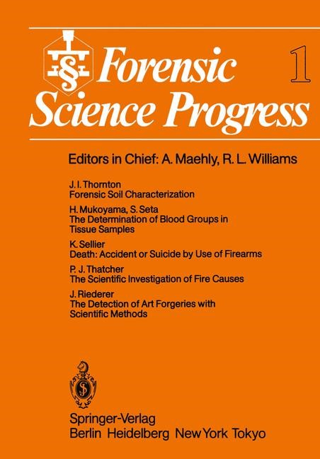 Forensic Science Progress, 2011 | Buch (Cover)