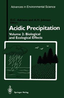 Abbildung von Adriano / Johnson | Acidic Precipitation | 2012