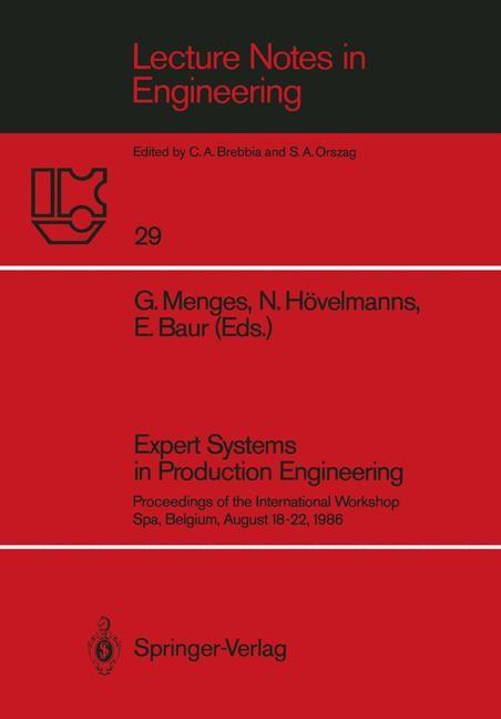 Abbildung von Menges / Hövelmanns / Baur | Expert Systems in Production Engineering | 1987