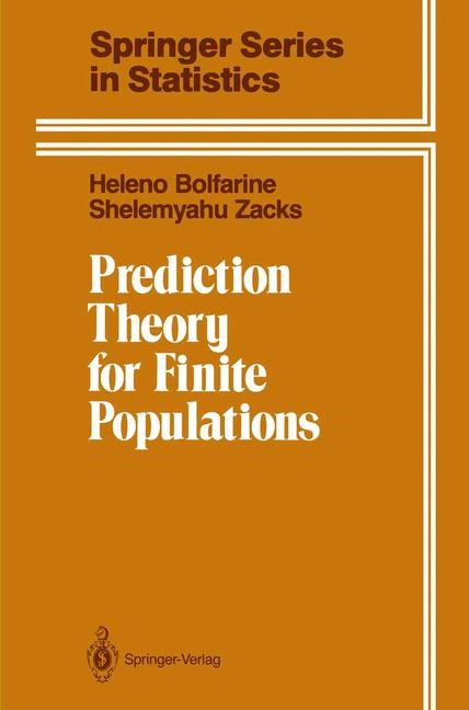 Abbildung von Bolfarine / Zacks | Prediction Theory for Finite Populations | 2011