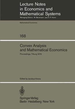 Abbildung von Kriens | Convex Analysis and Mathematical Economics | 1979