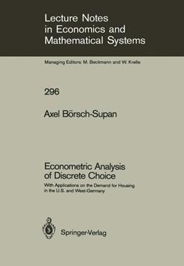 Abbildung von Börsch-Supan | Econometric Analysis of Discrete Choice | 1987 | With Applications on the Deman... | 296
