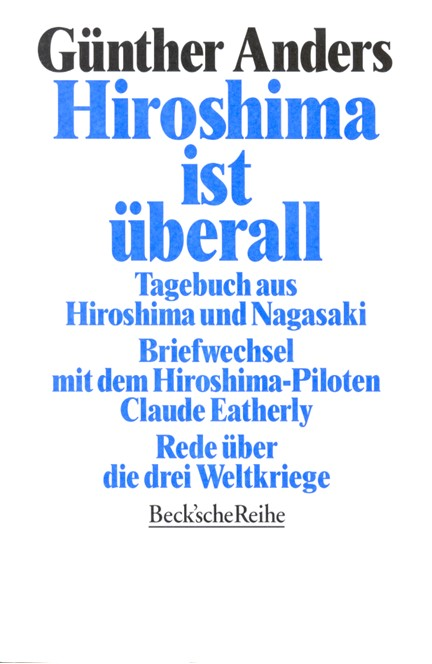 Cover: Guenther Anders, Hiroshima ist überall