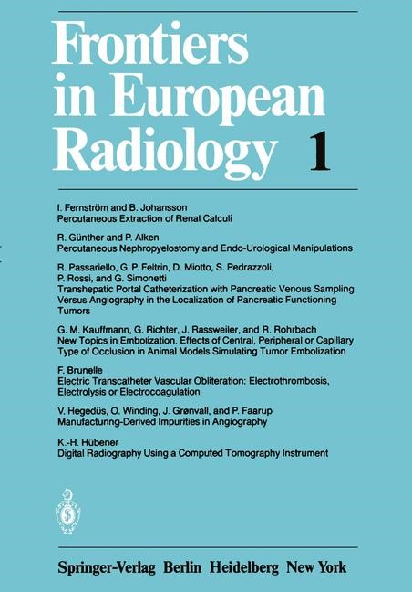 Frontiers in European Radiology, 2012 | Buch (Cover)