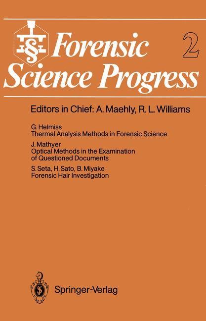 Abbildung von Forensic Science Progress | 2011