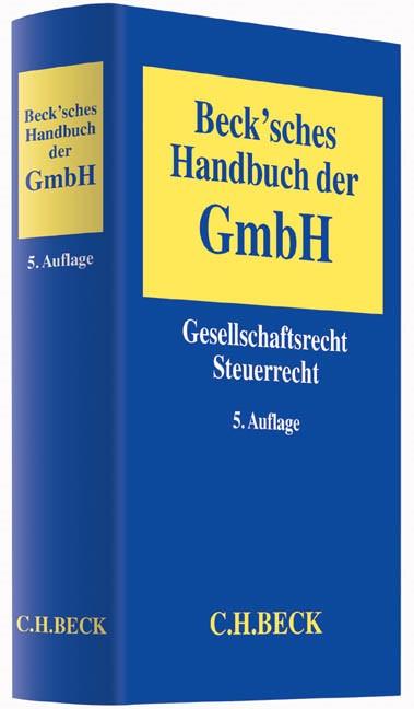Beck'sches Handbuch der GmbH   Buch (Cover)