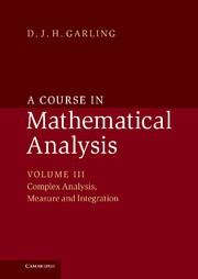 Abbildung von Garling | A Course in Mathematical Analysis | 2014