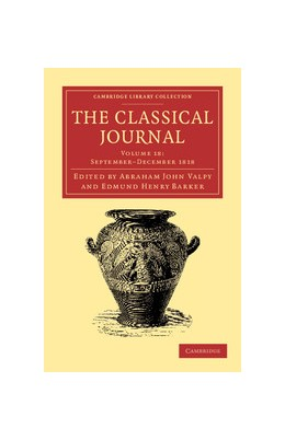 Abbildung von Valpy / Barker | The Classical Journal | 2013