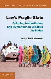 Abbildung von Massoud | Law's Fragile State | 2013