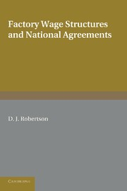 Abbildung von Robertson | Factory Wage Structures and National Agreements | 2013