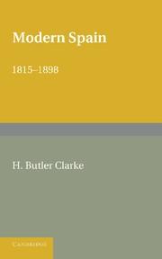Abbildung von Butler Clarke | Modern Spain 1815–1898 | 2013
