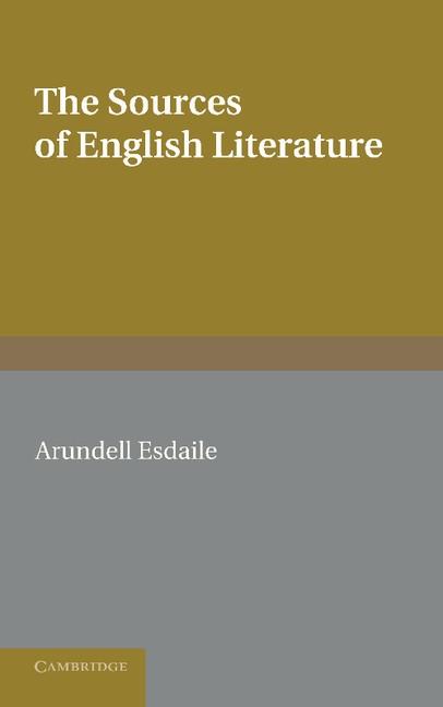 Abbildung von Esdaile | The Sources of English Literature | 2013