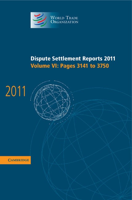 Abbildung von Dispute Settlement Reports 2011: Volume 6, Pages 3141-3750 | 2013