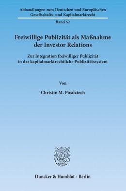 Abbildung von Posdziech | Freiwillige Publizität als Maßnahme der Investor Relations | 2012 | Zur Integration freiwilliger P... | 62