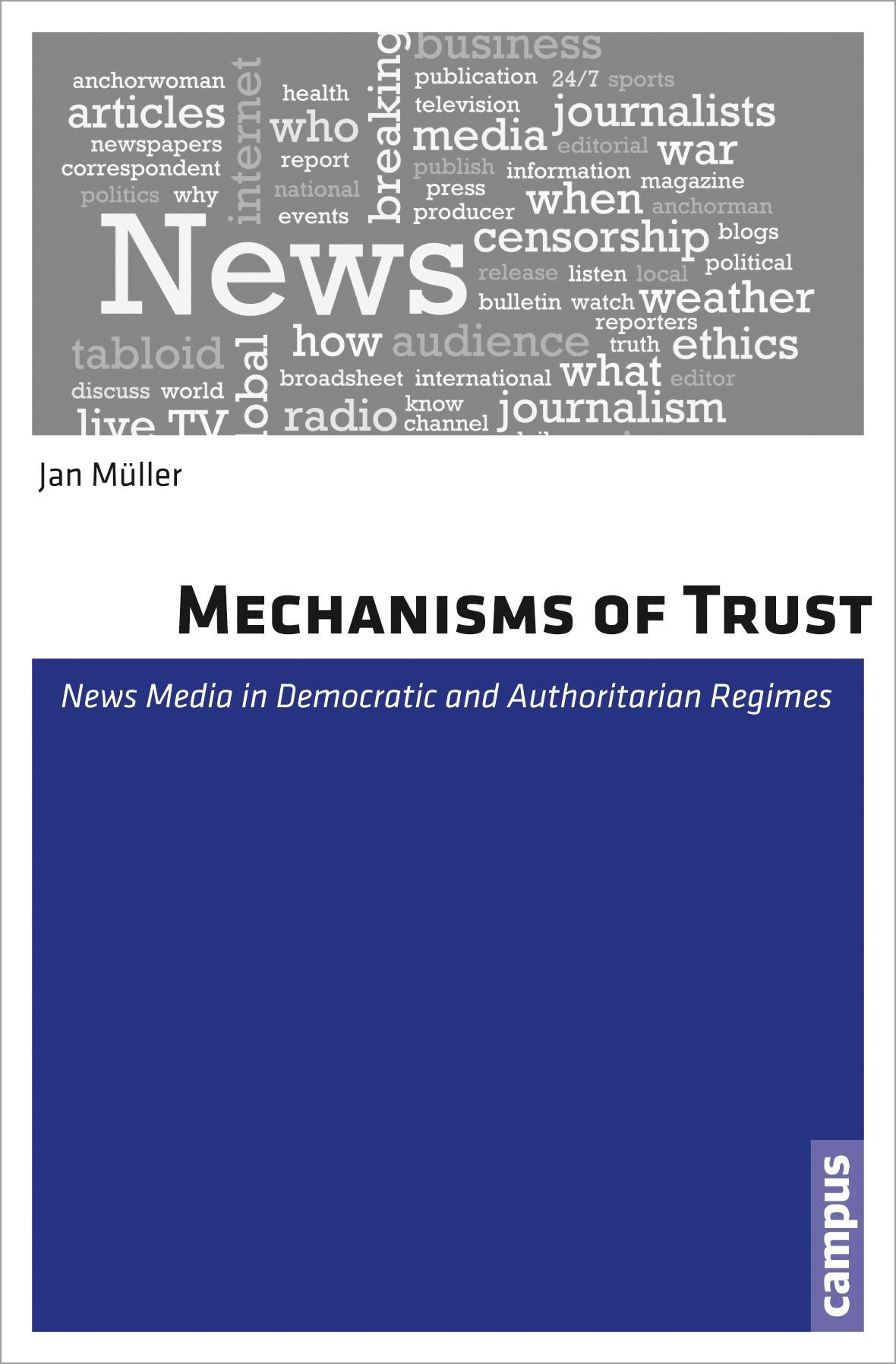 Mechanisms of Trust   Müller, 2013   Buch (Cover)