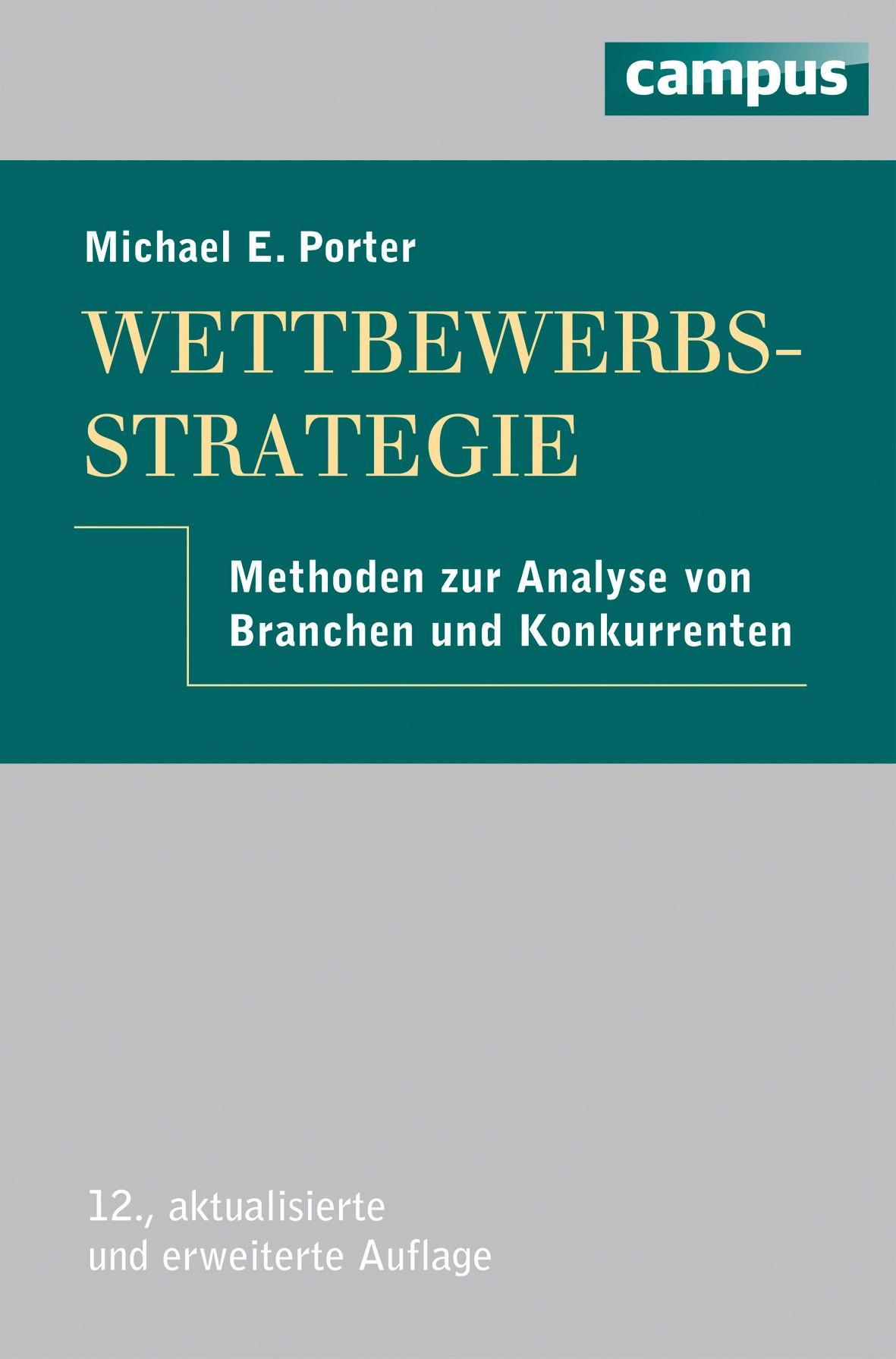 Wettbewerbsstrategie | Porter | 12., erweiterte und aktualisierte Auflage, 2013 | Buch (Cover)