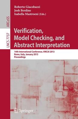 Abbildung von Giacobazzi / Berdine / Mastroeni | Verification, Model Checking, and Abstract Interpretation | 2013