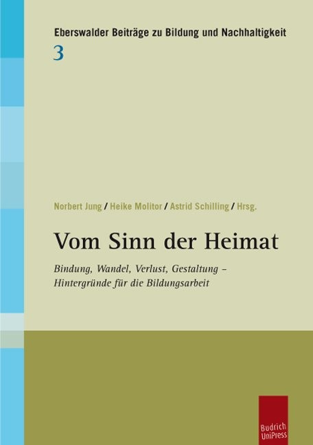 Vom Sinn der Heimat | Jung / Molitor / Schilling, 2013 | Buch (Cover)
