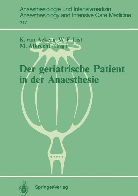 Abbildung von Ackern / List / Albrecht   Der geriatrische Patient in der Anaesthesie   1991
