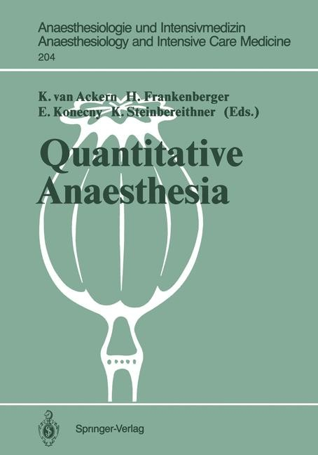 Quantitative Anaesthesia | Ackern / Frankenberger / Konecny / Steinbereithner, 1989 | Buch (Cover)