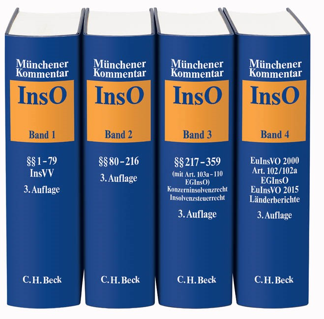 Münchener Kommentar zur Insolvenzordnung: InsO | 3. Auflage, 2016 | Buch (Cover)