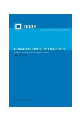 Abbildung von Kaczmirek   Human Survey-Interaction   1. Auflage   2009   6   beck-shop.de