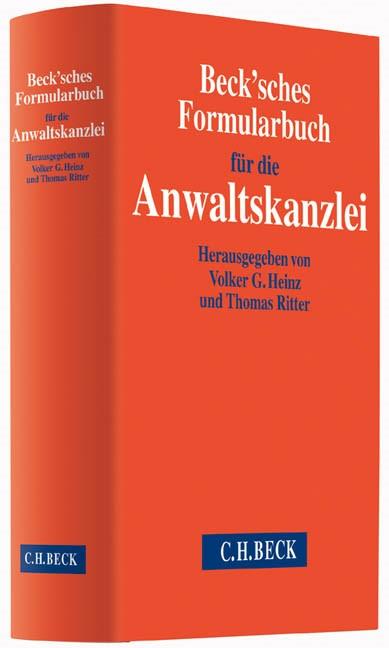 Beck'sches Formularbuch für die Anwaltskanzlei, 2014 (Cover)
