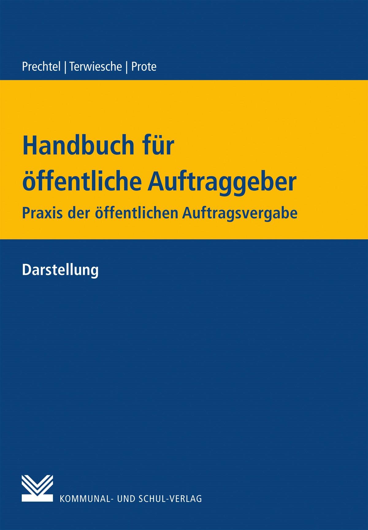 Handbuch für Öffentliche Auftraggeber   Andermann / Einmahl / Maibaum / Rhein / Summa   Buch (Cover)