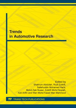 Abbildung von Abdullah / Zulkifli / Haris / Nuawi / Nopiah / Arifin / Wan Mahmood | Trends in Automotive Research | 2012 | Volume 165