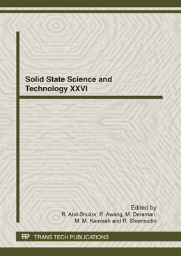 Abbildung von Abd-Shukor / Awang / Deraman / Kamisah / Shamsudin | Solid State Science and Technology XXVI | 2012