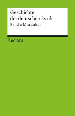 Abbildung von Holznagel | Geschichte der deutschen Lyrik | 2013 | Band 1: Mittelalter | 18888