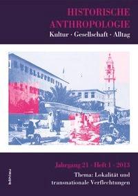 Historische Anthropologie | Brahm / Epple / Habermas, 2013 | Buch (Cover)