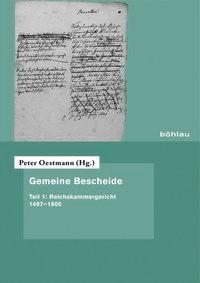 Gemeine Bescheide   Oestmann (Hrsg.), 2013   Buch (Cover)