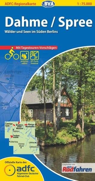 ADFC-Regionalkarte Dahme / Spree 1 : 75 000 | 2. Auflage, 2014 (Cover)