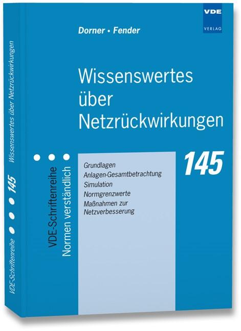 Abbildung von Dorner / Fender   Wissenswertes über Netzrückwirkungen   Neuerscheinung   2013
