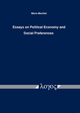 Abbildung von Mechtel | Essays on Political Economy and Social Preferences | 2013