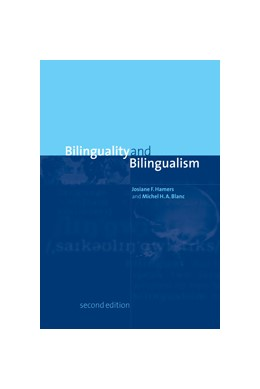 Abbildung von Hamers / Blanc | Bilinguality and Bilingualism | 2nd ed. | 2000