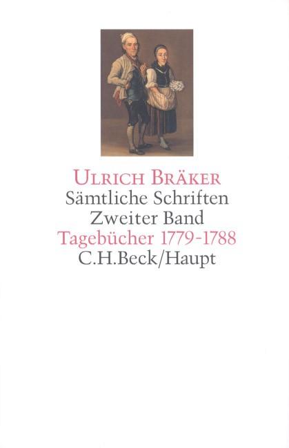 Sämtliche Schriften, Band 2: Tagebücher 1779-1788 | Bräker, Ulrich, 2014 | Buch (Cover)