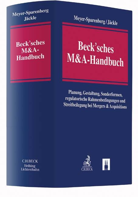 Beck'sches M&A-Handbuch | Meyer-Sparenberg / Jäckle, 2016 | Buch (Cover)