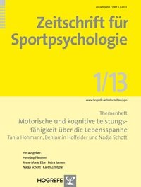 Abbildung von Hohmann / Holfelder / Schott | Motorische und kognitive Leistungsfähigkeit über die Lebensspanne | 2013