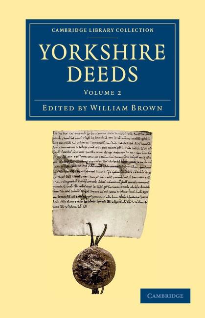Abbildung von Brown   Yorkshire Deeds: Volume 2   2013
