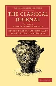 Abbildung von Valpy / Barker   The Classical Journal   2013