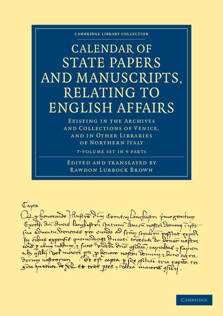 Abbildung von Cavendish Bentinck | Calendar of State Papers and Manuscripts, Relating to English Affairs 7 Volume Set | 2013