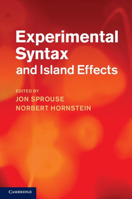 Abbildung von Sprouse / Hornstein | Experimental Syntax and Island Effects | 2013