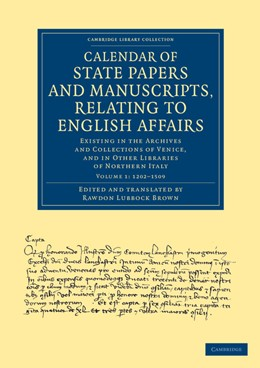 Abbildung von Calendar of State Papers and Manuscripts, Relating to English Affairs | 2013