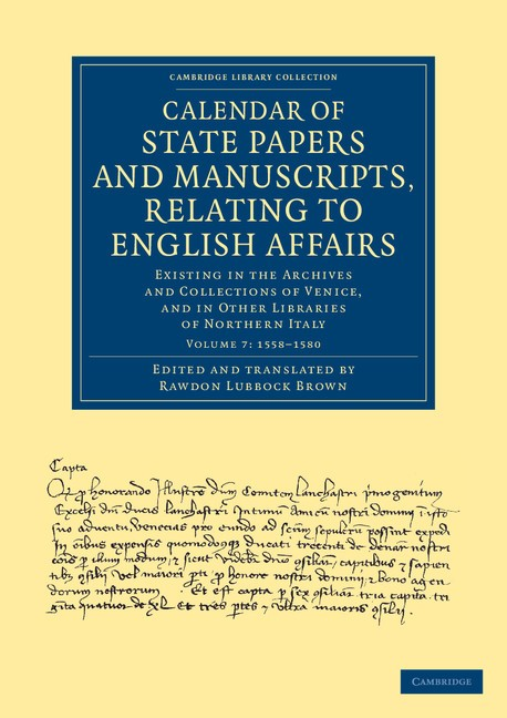 Abbildung von Cavendish Bentinck | Calendar of State Papers and Manuscripts, Relating to English Affairs | 2013
