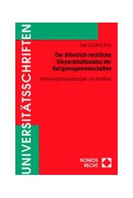Abbildung von Bohl | Der öffentlich-rechtliche Körperschaftsstatus der Religionsgemeinschaften | 2001 | Verleihungsvoraussetzungen und... | 359
