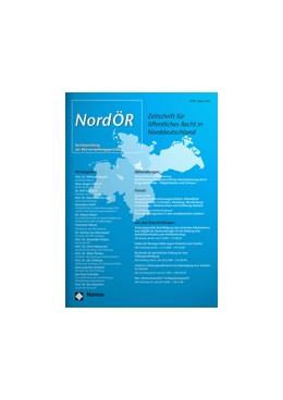 Abbildung von Zeitschrift für Öffentliches Recht in Norddeutschland • NordÖR | 23. Jahrgang | 2020