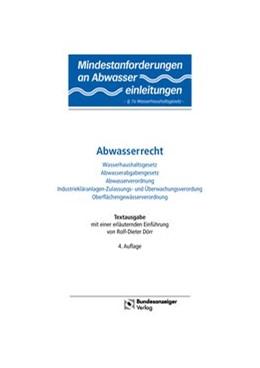 Abbildung von Dörr | Abwasserrecht | 2014 | Wasserhaushaltsgesetz / Abwass...